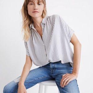 Madewell central button down shirt dalton stripe